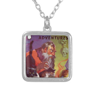 Santa's Bad Cats Silver Plated Necklace