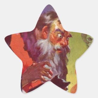 Santa's Bad Cats Star Sticker