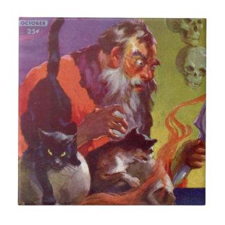 Santa's Bad Cats Tile