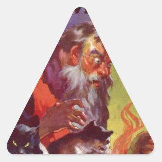 Santa's Bad Cats Triangle Sticker