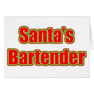 Santa's Bartender Card