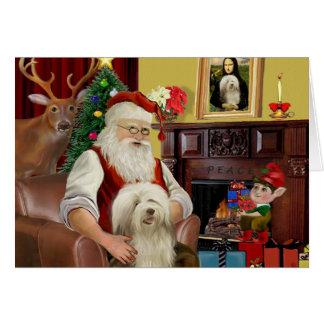 Santa's Bearded Collie (#16) Card
