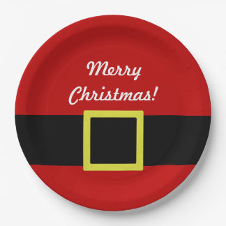 Santa's Belt | Christmas Holiday | Personalized Paper Plate