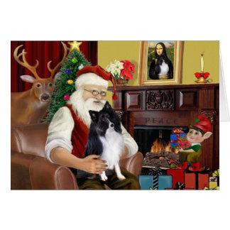 Santa's Bi Black Sheltie Card