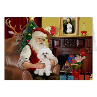 Santa's Bichon Frise #2 Card