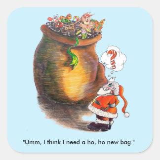 Santa's  Big Bag Square Sticker