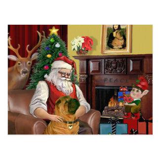 Santa's Chinese Shar Pei Postcard