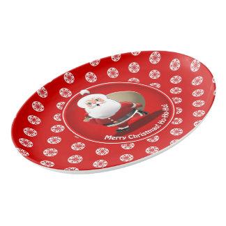 Santa's Christmas Celebration Porcelain Serving Platter