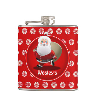 Santa's Christmas Party Flask