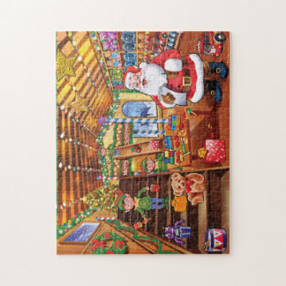 Santa's Christmas toy workshop jigsaw puzzle
