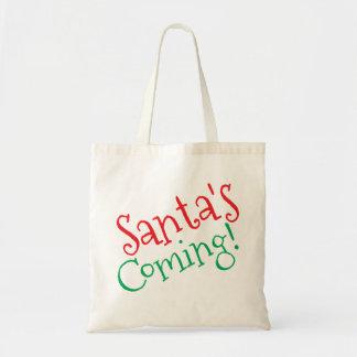Santa's Coming! Tote Bag