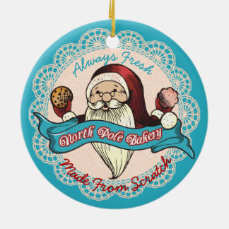 Santas cookie bakery  culinary Christmas ornament