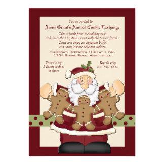 Santa's Cookie Exchange Invitation Card