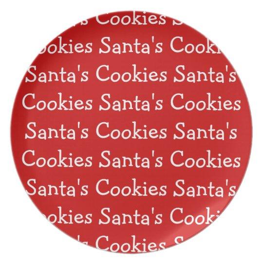Santas Cookies Plate