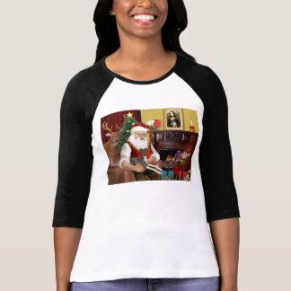 Santa's Cream Italian Greyhound T-Shirt