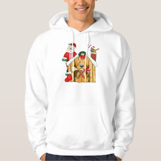 Santa's Dog House - Basic Hooded Sweatshirt