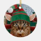 Santa's Elf-Cat Ornament