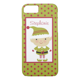 Santa's Elf Christmas Personalized Barely There iPhone 7 Case