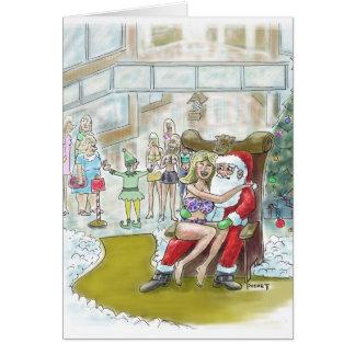 Santas Elf Helps Out Big! Christmas Card