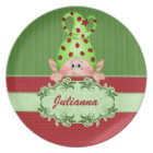 Santa's Elf Personalized Christmas Plate