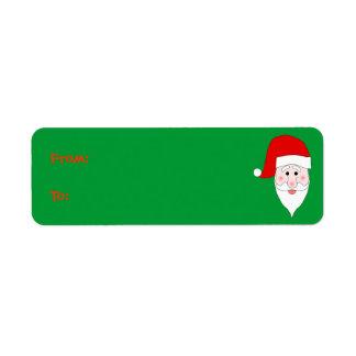 Santa's Face Gift Label Return Address Label