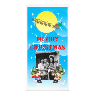 Santa's Farewell Customized Photo Card