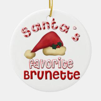 Santa's Favorite Brunette Ornament