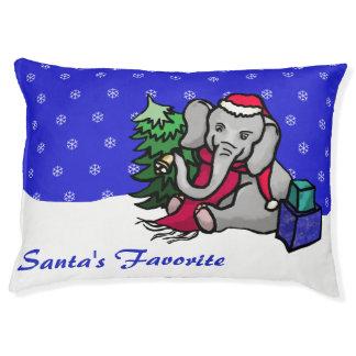 """Santa's Favorite"" Cute Snow Christmas Elephant Pet Bed"