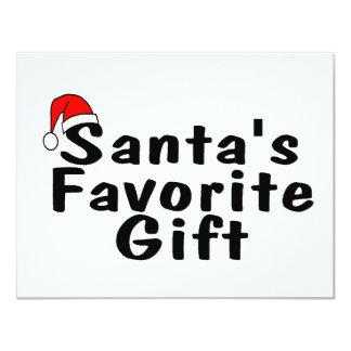 Santas Favorite Gift Personalized Invite