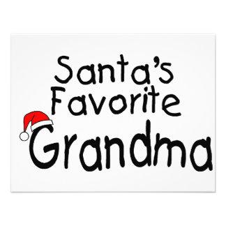 Santas Favorite Grandma 1 Custom Invitations