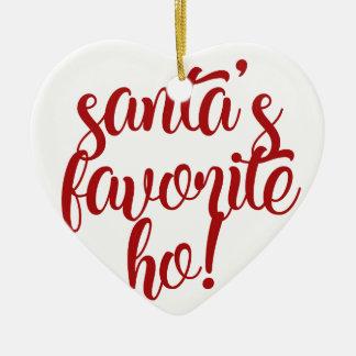 Santa's Favorite Ho! Ceramic Ornament