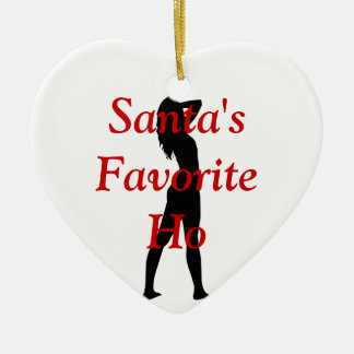 Santas Favorite Ho Ceramic Ornament