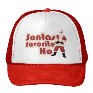 Santas Favorite Ho Funny Christmas Mesh Hat