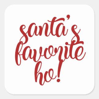 Santa's Favorite Ho! Square Sticker