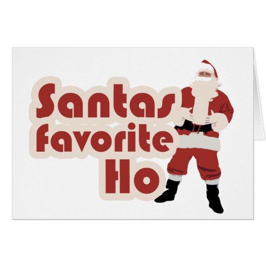 Santas Favourite Ho Funny Christmas Card