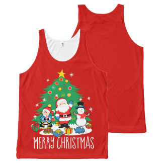 Santa's friends All-Over-Print tank top