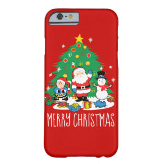 Santa's friends barely there iPhone 6 case