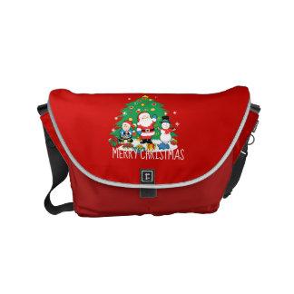Santa's friends messenger bags
