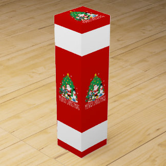 Santa's friends wine gift box