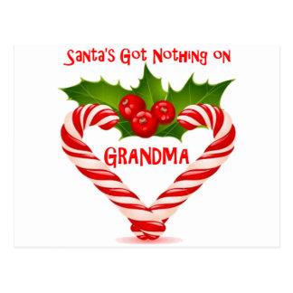Santa's Got Nothing On Grandma Postcard