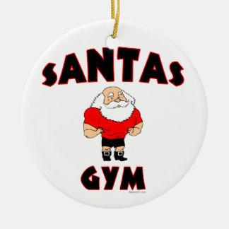 Santas Gym Custom Ornaments