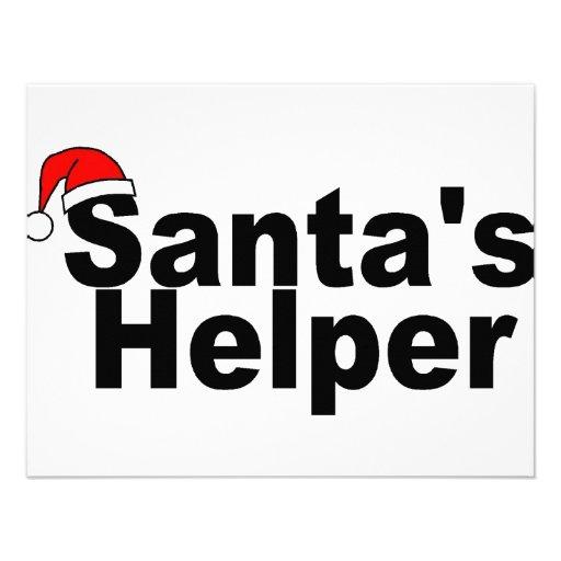 Santas Helper Black Custom Announcements