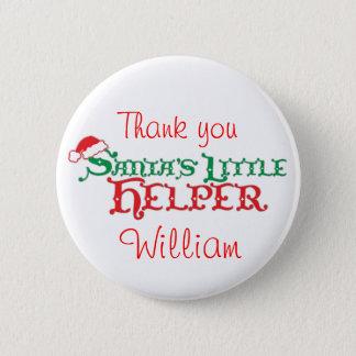 Santa's helper colourful christmas button/badge 2 inch round button