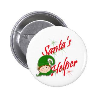 Santa's Helper Elf 2 Inch Round Button