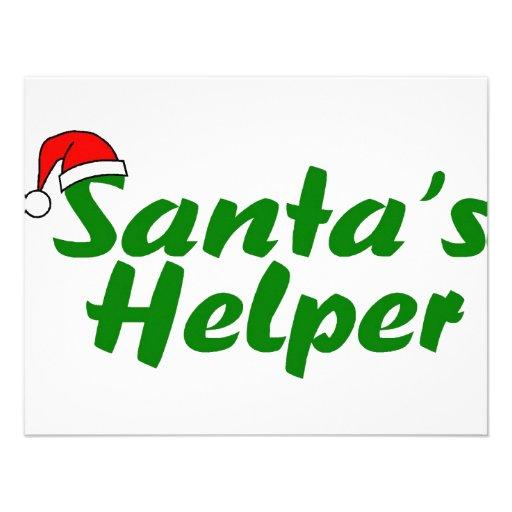 Santas Helper Green Custom Invite