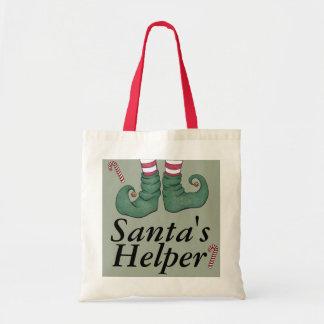 Santa's Helper Holiday Elf Tote Bag