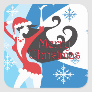 Santa's Helper - Merry Christmas Square Sticker