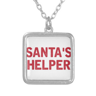 Santa's Helper Silver Plated Necklace