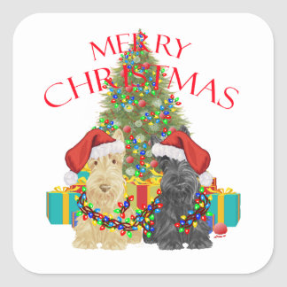 Santas Helpers Square Sticker