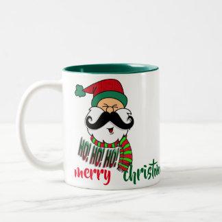 Santa's ho ho ho funny christmas mug design